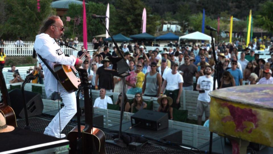 Neil Young performs at Harvest Moon