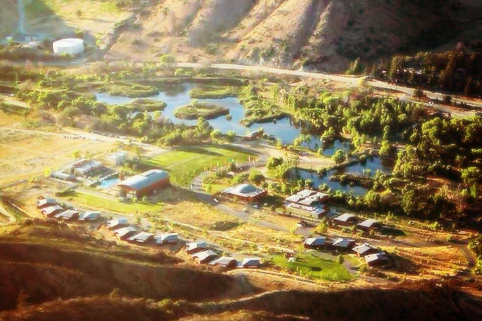 An aerial view of Campsite.